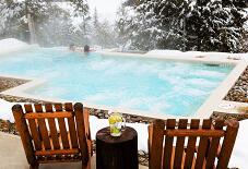 Gunite Swimming Pool in New England Winter