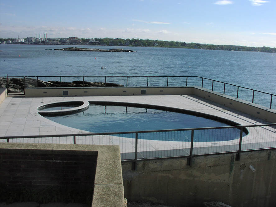 Waterfront Swimming Pool Construction