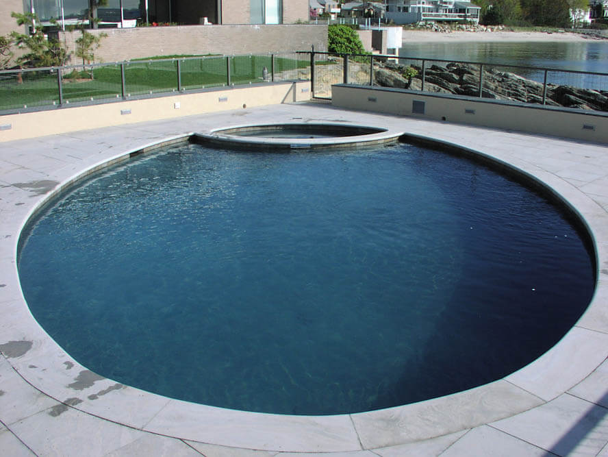 Oval Waterfront Swimming Pool Construction