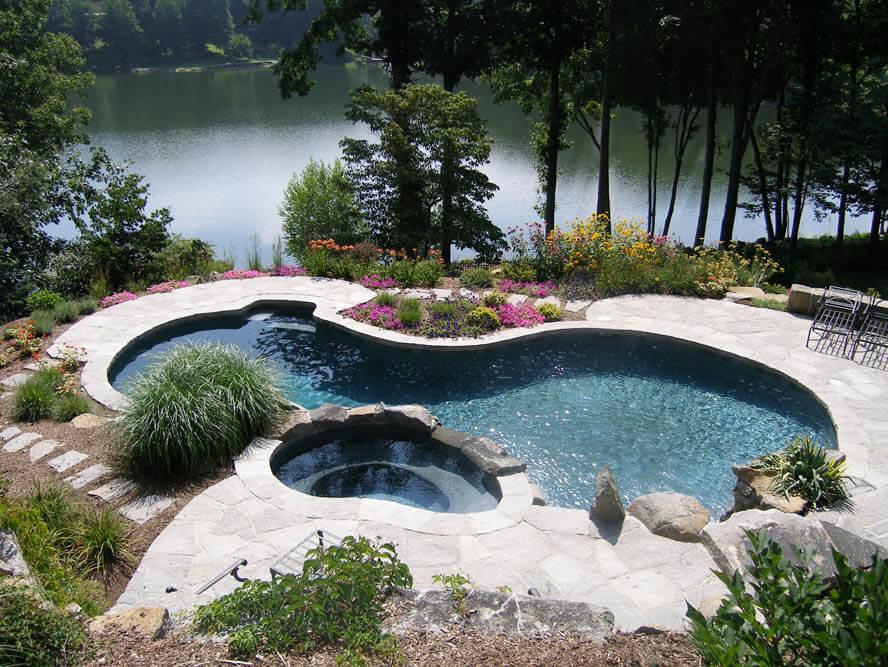 Freeform Swimming Pool and Freeform Spa