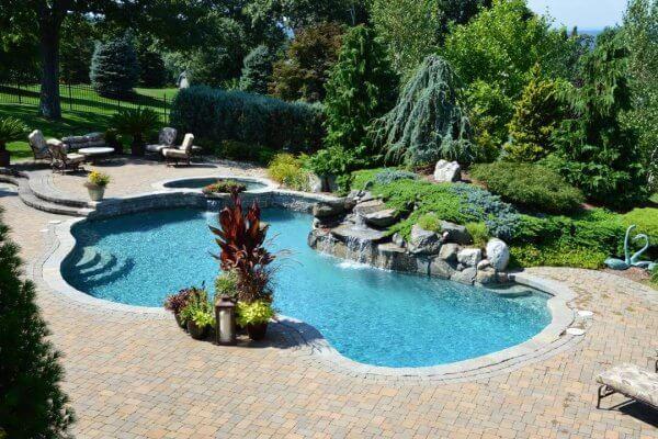 Gunite Pool and Pool Deck