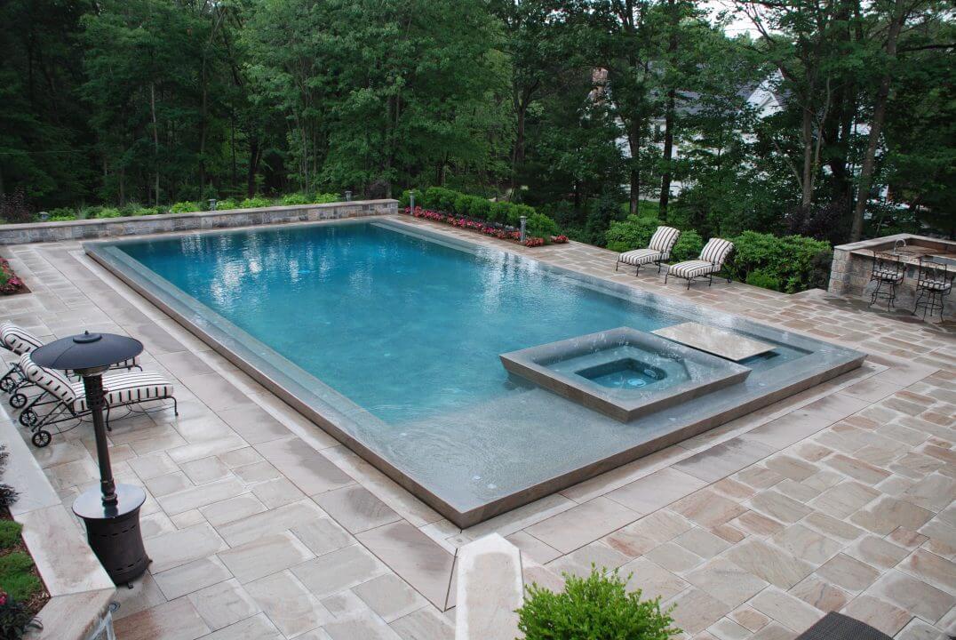 Rectangle Gunite Swimming Pool