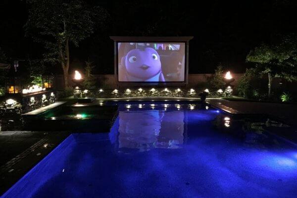 Gunite Swimming Pool at Movie Night