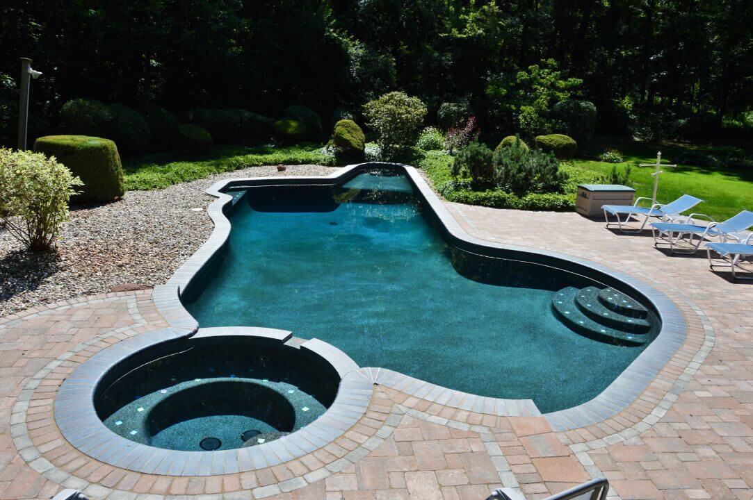 free form inground gunite pool