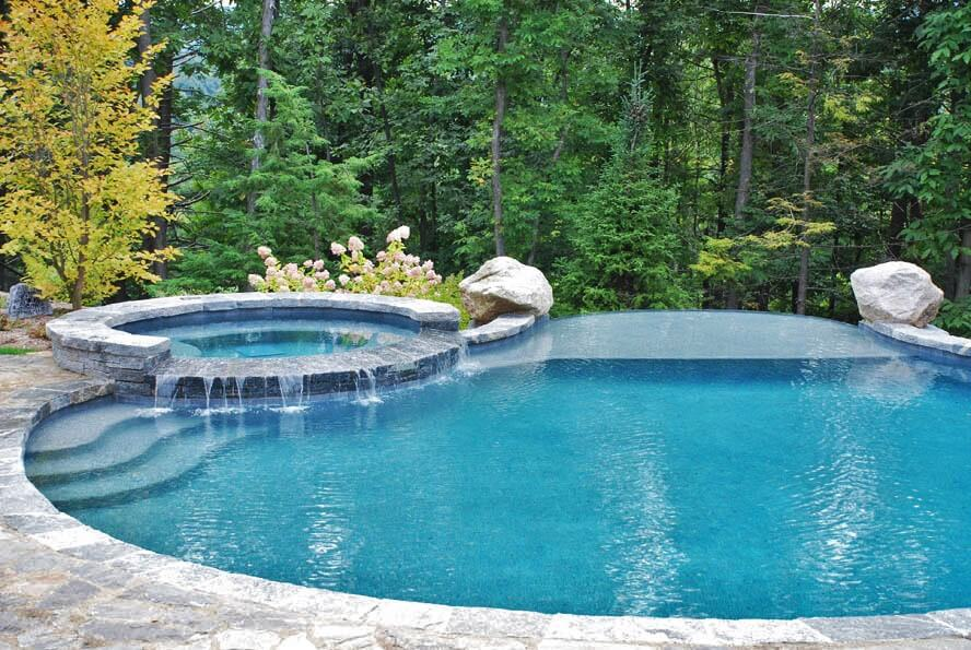 Inground Gunite Infinity Swimming Pool