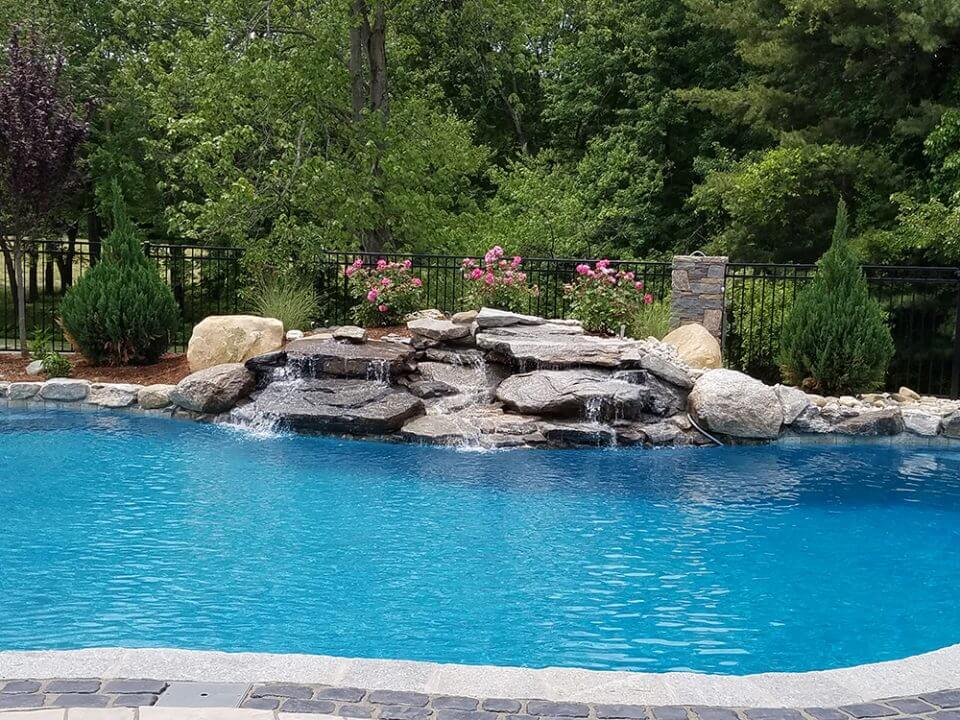 Inground Gunite Swimming Pool Water Fountain