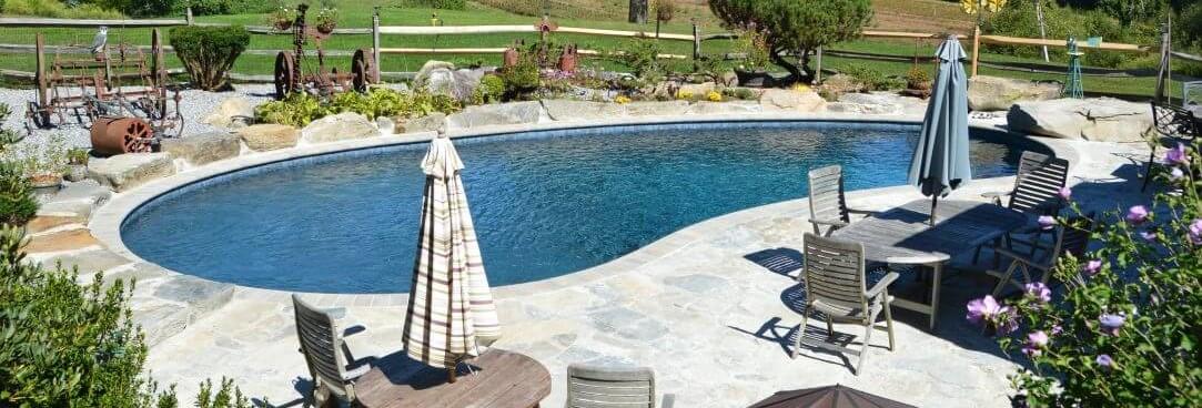 freeform inground pool ct