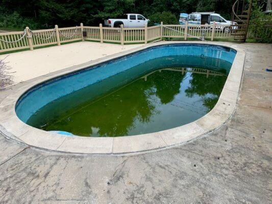 Inground Gunite Pool Before